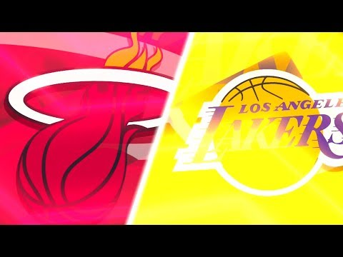 NBA 2K18 All Time Miami Heat vs All Time Los Angeles Lakers Full Game