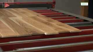 Jak se olejují dřevěné podlahy oleji Osmo na olejovací lince ve výrobě v SRN
