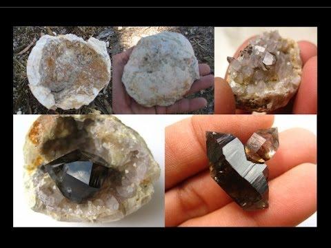 How to find Geodes - Smoky Quartz Crystals   Liz Kreate