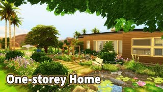 The Sims 4 | House Build (Stop Motion) | One-storey Home (Base Game, no CC)