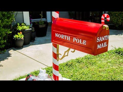 Diy Santa Mailbox Home Family You