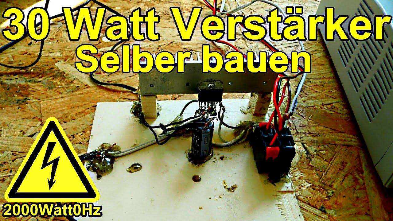 30Watt Verstärker selber bauen (TDA7377) - YouTube