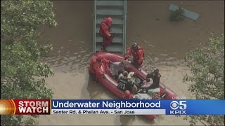 STORM WATCH:  Firefighters rescue residents from flooded San Jose Neighborhood