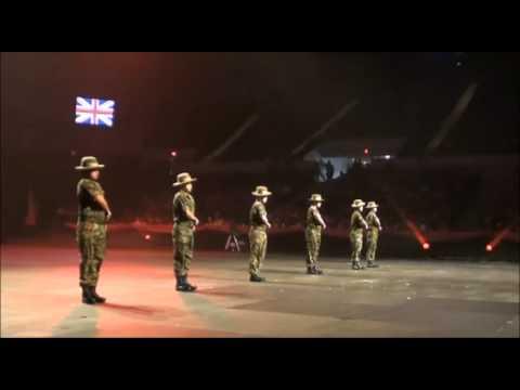 British Gurkha Army khukuri Dance in US, Virginia