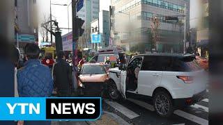 서울 도심에서 SUV가 택시 덮쳐...1명 사망 / Y…