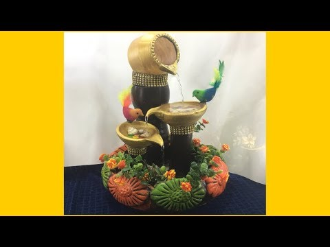 Best out of waste || LIVE FOUNTAIN || How to reuse waste plastic jars || DIY || lets make art