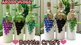 DIY | Bottle Decoration With Marble | Marbles craft | ARZOO VLOGS