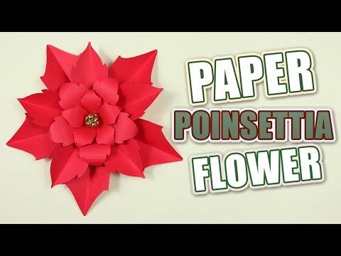 Making a DIY Poinsettia Paper Flower | Christmas Tutorial