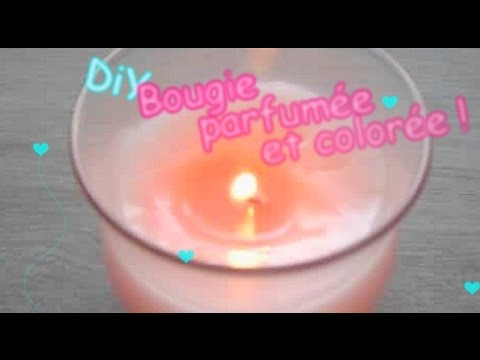 diy faire sa bougie parfum e et color e youtube. Black Bedroom Furniture Sets. Home Design Ideas