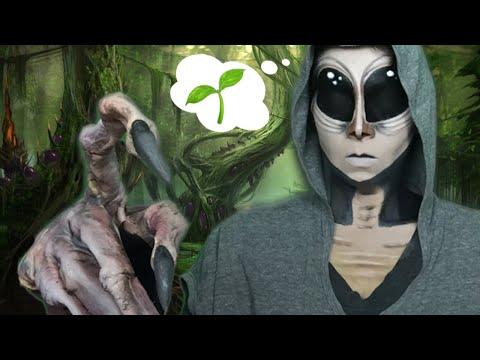 Vegan Alien Halloween Makeup Tutorial thumbnail
