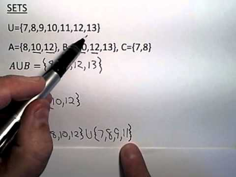 Sets: Union, Intersection, Complement - YouTube