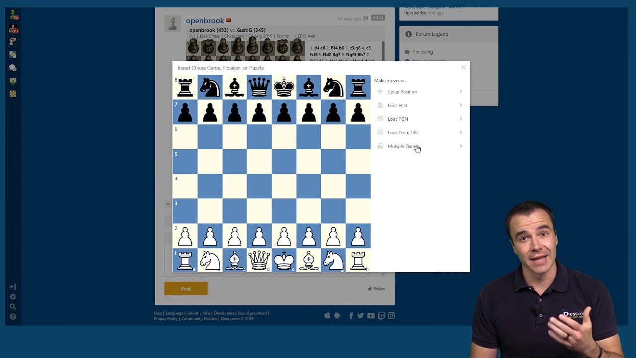 Sharing Your Games on Chesscom
