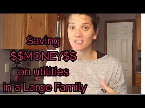 Saving $$MONEY$$ on utilities in a LARGE FAMILY