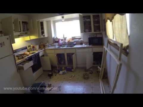 Poltergeist Caught on Tape Destroying Kitchen