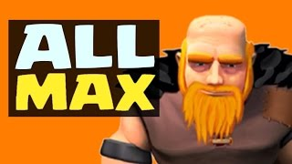 Clash Of Clans - ALL MAX GIANTS RAID - 52 Level 6 Giants