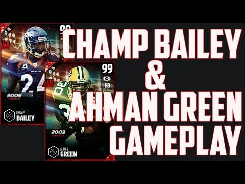 BOSS 99 OVERALL CHAMP BAILEY AND AHMAN GREEN GAMEPLAY AND REVIEW!!! - MUT 17