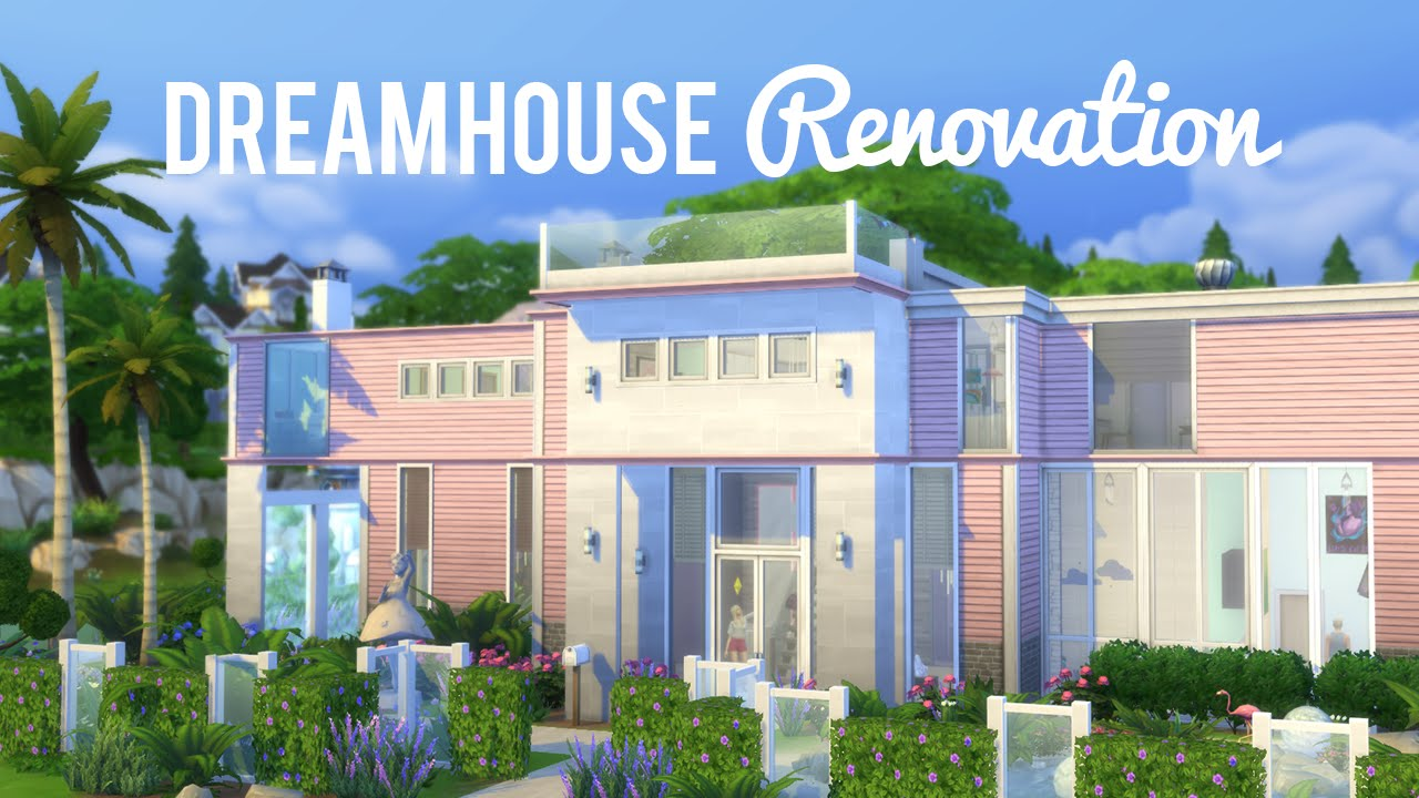 The sims 4 speed renovation barbie dream house youtube for Dream house builder