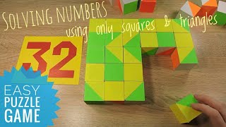 Numbers 30-40 Pattern blocks Educational toy Relaxing music for kids