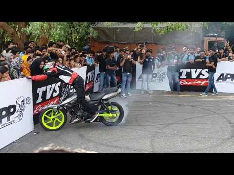 Stunt show burn out