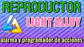 reproductor light alloy con alarma y programador