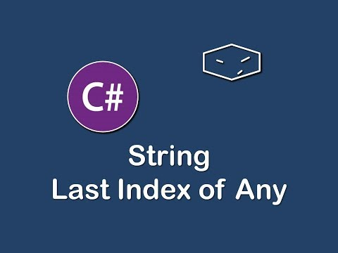 last index of any char in c#