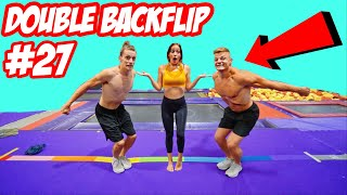 LAST TO DOUBLE BACKFLIP WINS...