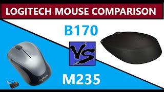 Logitech M235 vs Logitech B170 Mouse Unboxing & Detail Review