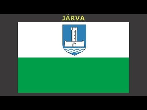 Flags of counties of Estonia - Vlajky krajů Estonska