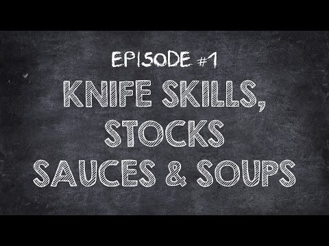 "Cuisinart Culinary School ""Knife Skills, Stocks, Sauces and Soups"" with Chef Jonathan Collins"