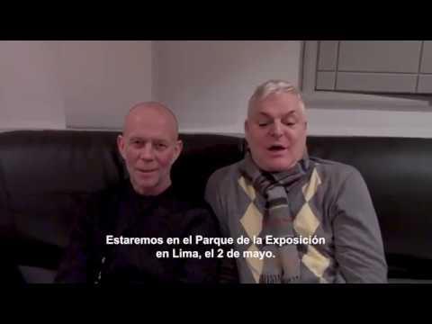 ERASURE en Lima - Saludo de Vince Clark y Andy Bell