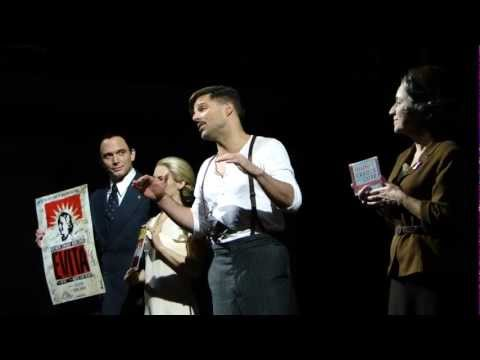 Ricky Martin talks about Broadway charity Nov 25th, 2012