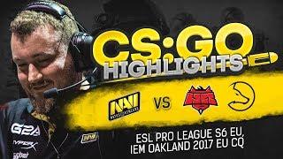 CSGO Highlights: NAVI vs LDLC, HellRaisers @ ESL Pro League S6 EU, IEM Oakland 2017 ECQ