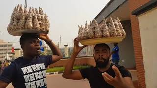 Woli Arole tells you the difference between epa and groundnut featuring Asiri Comedy on the street