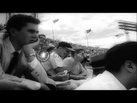 American League wins the 25th All Star Game,Major League Baseball against Nationa...HD Stock Footage