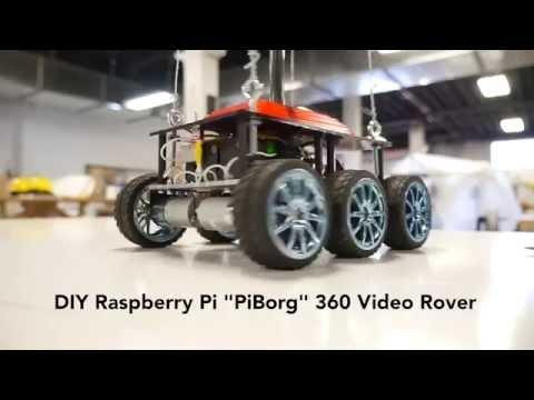 VR360 /  Raspberry Pi Telepresence RoverBot (first demo)