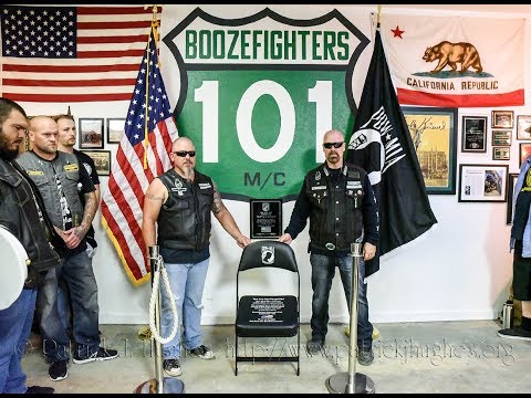 Boozefighters Motorcycle Club Dedicates Their POW/MIA National Chair