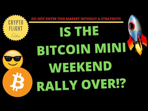 IS THE BITCOIN MINI WEEKEND RALLY OVER!? | PRICE PREDICTION | TECHNICAL ANALYSIS$ BTCUSD