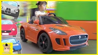 Kid Indoor Playground Family Fun Play Area! Tayo bus garage car kids cafe toys | MariAndKids Toys
