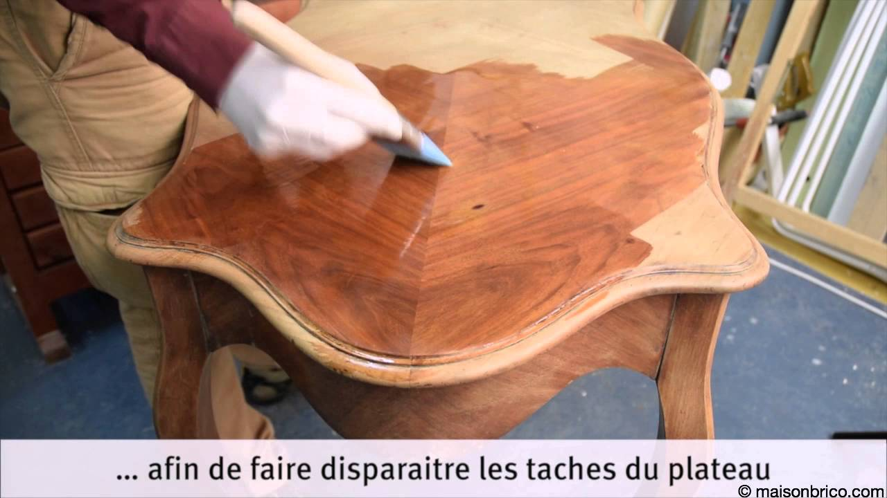 Restaurer une table de jeu youtube - Ceruser une table en chene ...