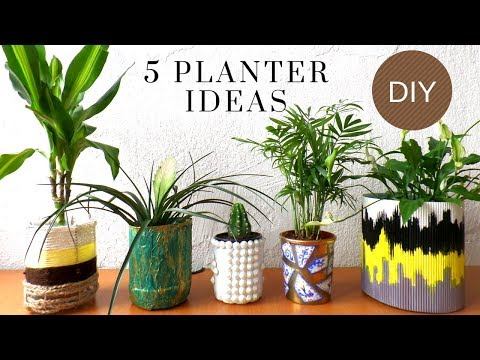 Five Planter / Plant Pot Ideas using Recycled Materials | Best out of Waste | by Fluffy Hedgehog HD