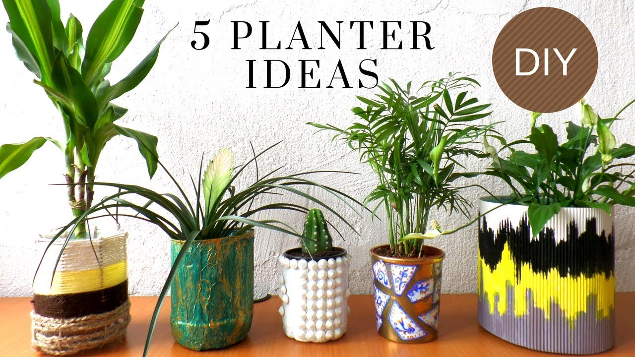 Five Planter / Plant Pot Ideas using Recycled Materials | Best out of Waste | by Fluffy Hedgehog HD & Five Planter / Plant Pot Ideas using Recycled Materials | Best out ...