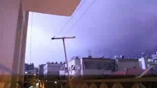 Mersin'in Yıkıldığı Gece ! Yıldırım, Şimşek, Gök Gürültüsü, Fırtına !