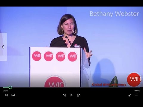 Plenary Speech at the Global WIN Conference (Women's International Networking) in Rome, Italy 2016