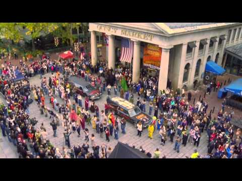 Canobie Lake Park SCREEEMFEST Monster Flash Mob at Faneuil Hall Marketplace