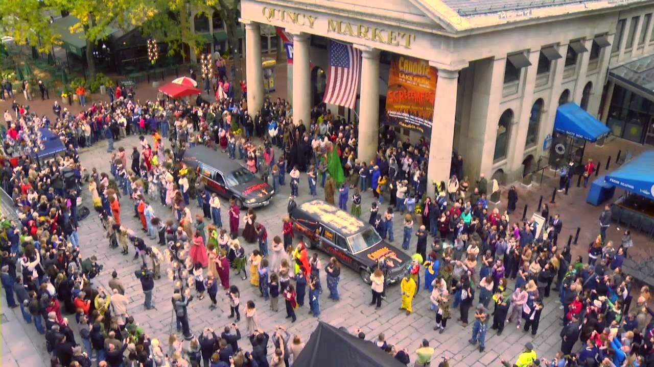 canobie lake park screeemfest monster flash mob at faneuil hall marketplace youtube