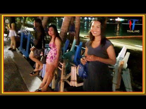 Night walk along the Beach Road (part 2) Pattaya 2017, Vlog 133
