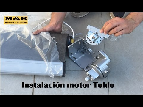 Instalaci n motor toldo youtube for Como colocar un toldo de brazos invisibles