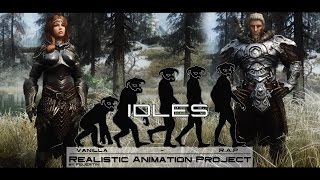 Realistic Animation Project - Idles - Skyrim Mods [4K]