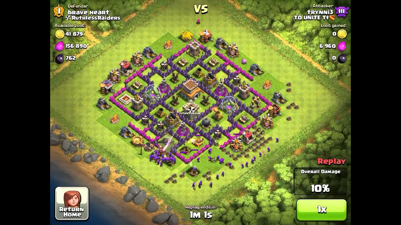 Of clans epic pingfao town hall 8 trophy base 1800 youtube