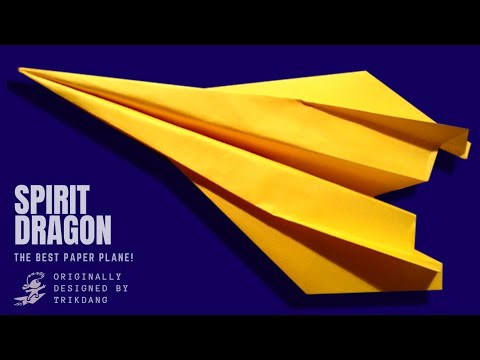 Papercraft Paper Plane Instructions: How to make a paper plane that FLIES FAST & FAR | Spirit Dragon